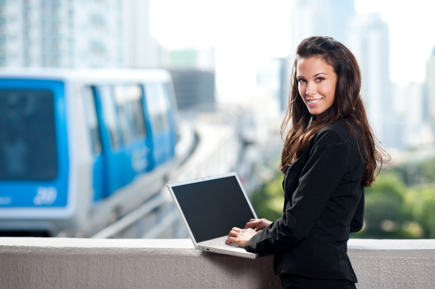 Woman Logging in to PAC Dealer Services